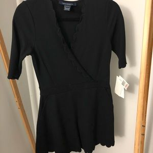 French Connection black scalloped romper